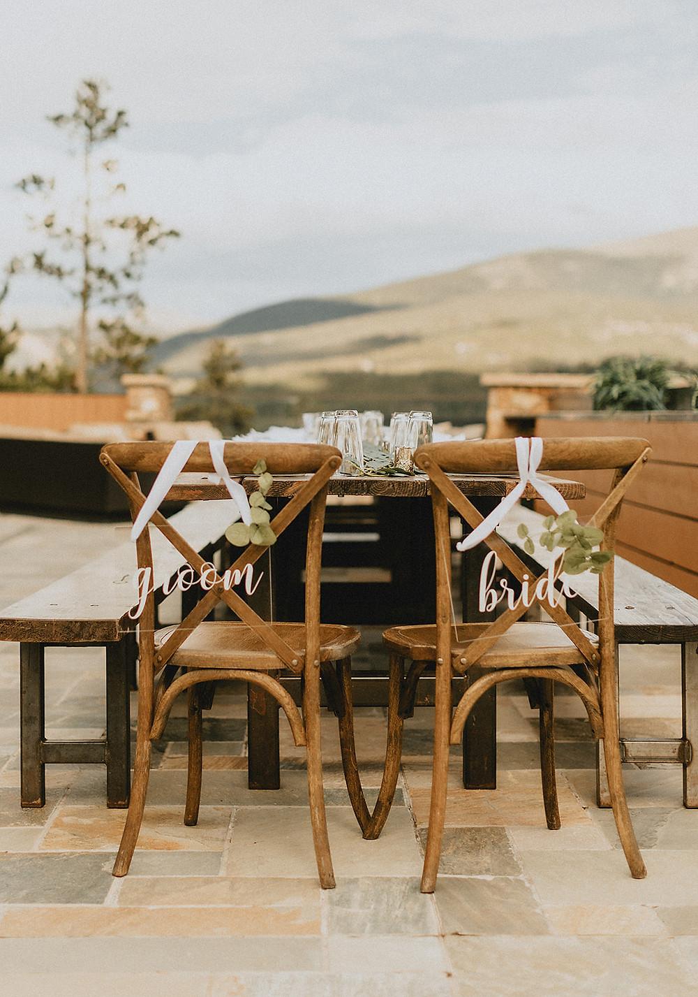 Chateau of Breckenridge - Breckenridge Wedding - Wedding Table