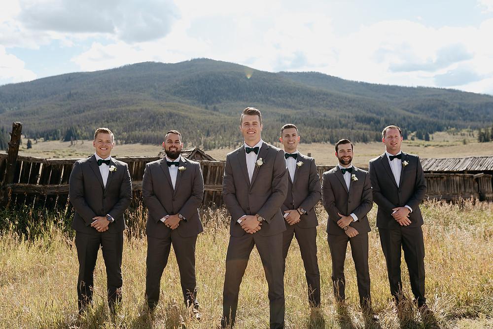 Keystone Wedding - Keystone Ranch Wedding - Groom and Groomsmen
