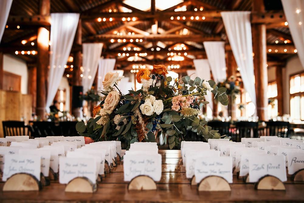 Keystone Wedding Planner - Timber Ridge Wedding - Escort Cards