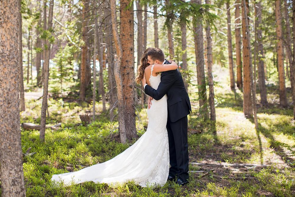 Breckenridge Wedding First Look, Ten Mile Station Wedding
