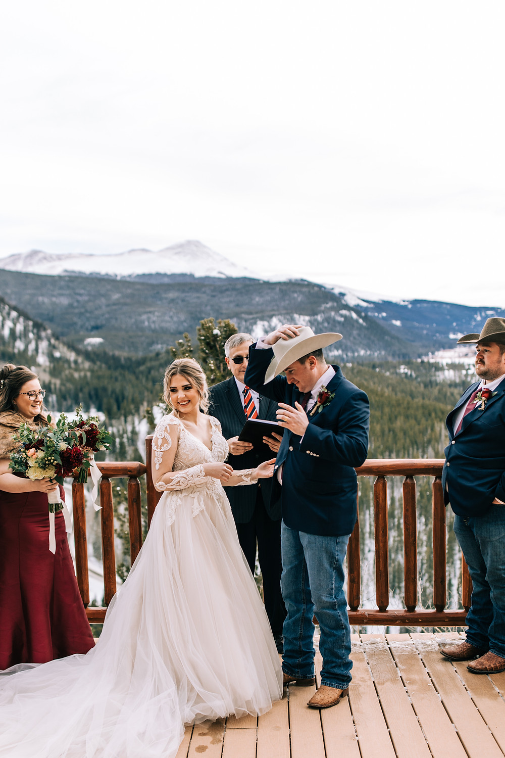 The Lodge at Breckenridge Wedding - Bride and Groon