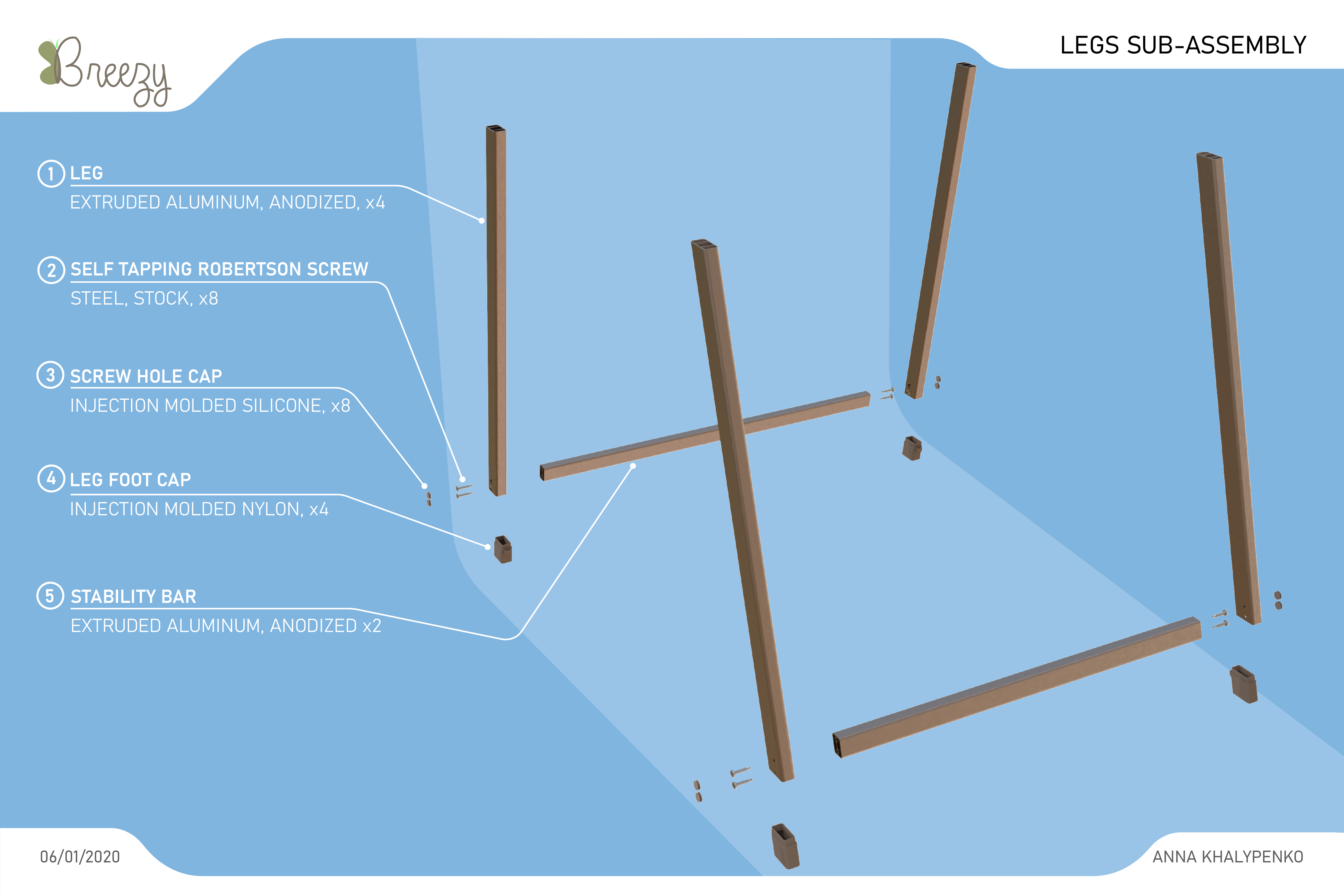 19- EXPLODED VIEW LEGS