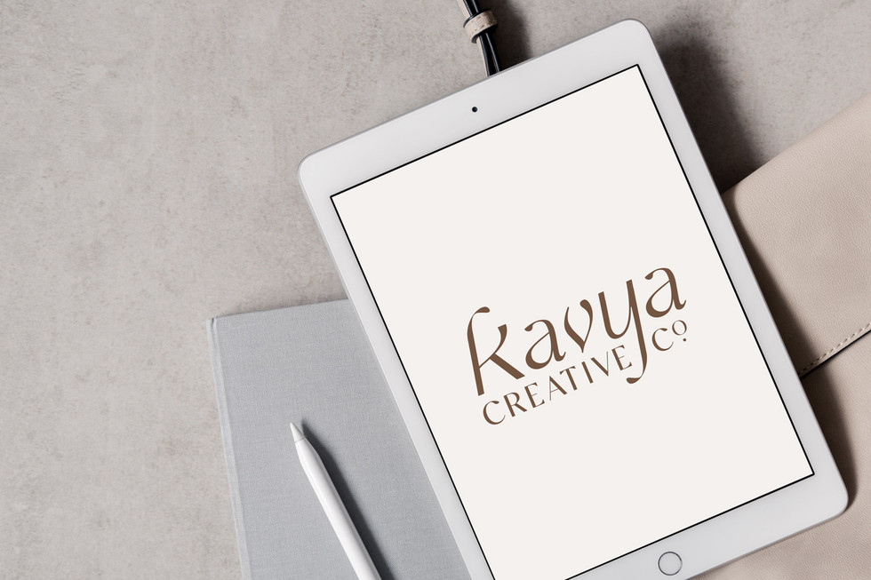 Kavya Creative Co. Logo on iPad