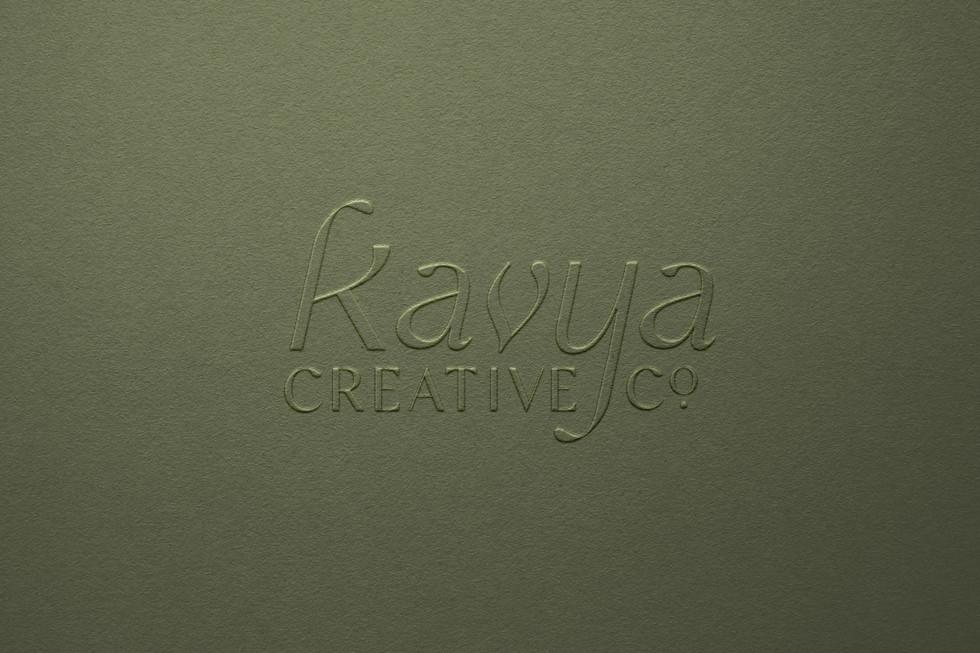 Kavya Creative Co. Logo Embossed on Paper