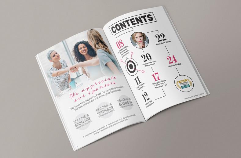 Pink Corner Office Magazine