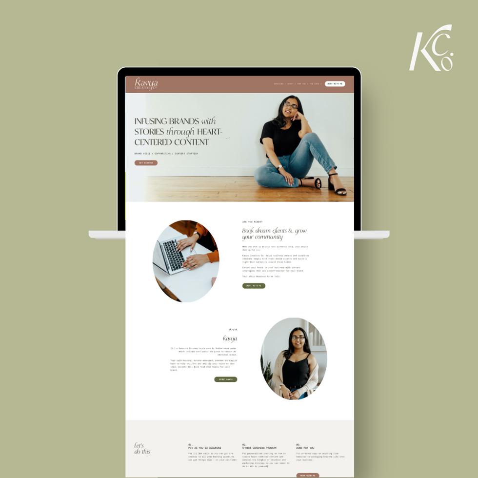 Kavya Creative Co. Website Design