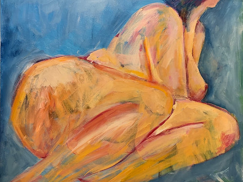 'Seated Blue Nude 2' by Joanne Radnor