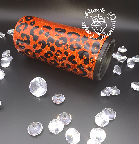 Cheetah Print Slim Can Cooler