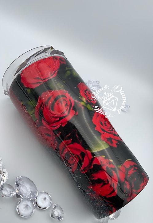 Beautiful Rose 20 oz. Curve Tumbler