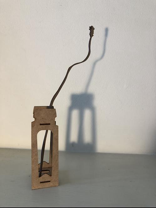 'Extraordinary ordinary' laser cut grass in bottle(set3)