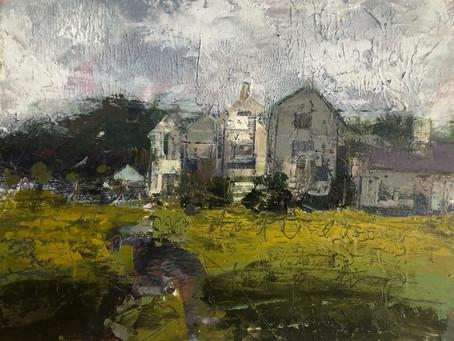 Wonderful clients at Hawkwood College Landscape Painting Advanced workshop.