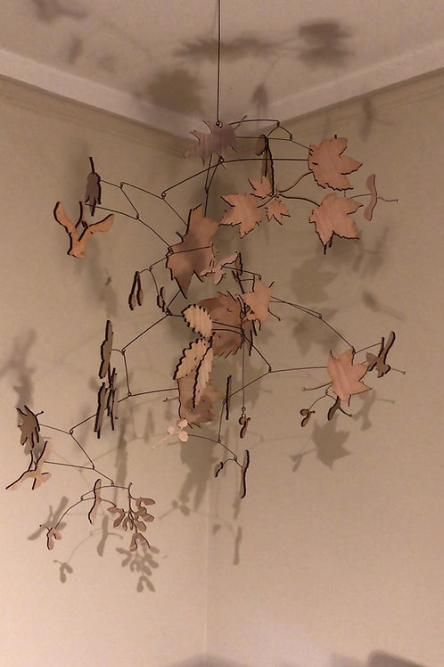 'Extra Ordinary ordinary' Sculpture British leaf mobile