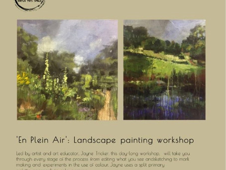 Oct 3rd Painting Workshop Rococo Gardens Painswick 10am til 4pm