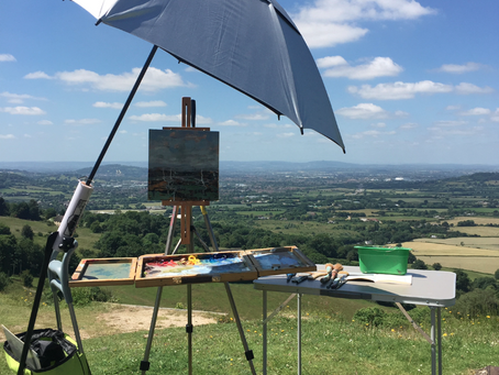 Landscape Painting Morning with Jayne Tricker Friday 14th of Sept 2018 10am -12 30pm Crickley Hill C