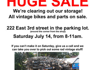 HUGE SALE! We're clearing out our storage!