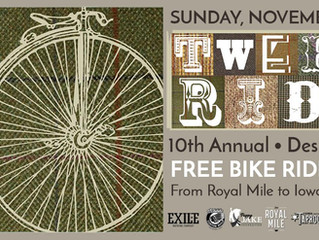 Join us for the 10th annual Des Moines Tweed Ride.