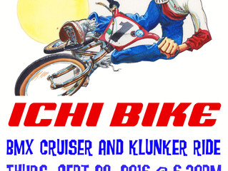 September 29 Cruiser and Klunker ride!