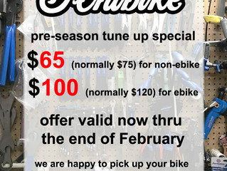 Pre season tune up special!
