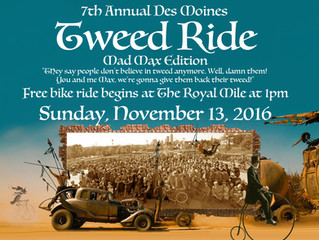 2016 Des Moines Tweed Ride, Mad Max Tweed Warrior! Sunday, November 13, 1pm.