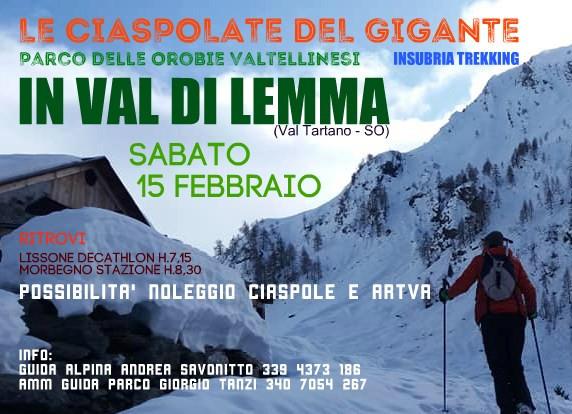 Ciaspolata alla Baita di Zocca in Val di Lemma, Val Tartano - Sabato 15 febbraio