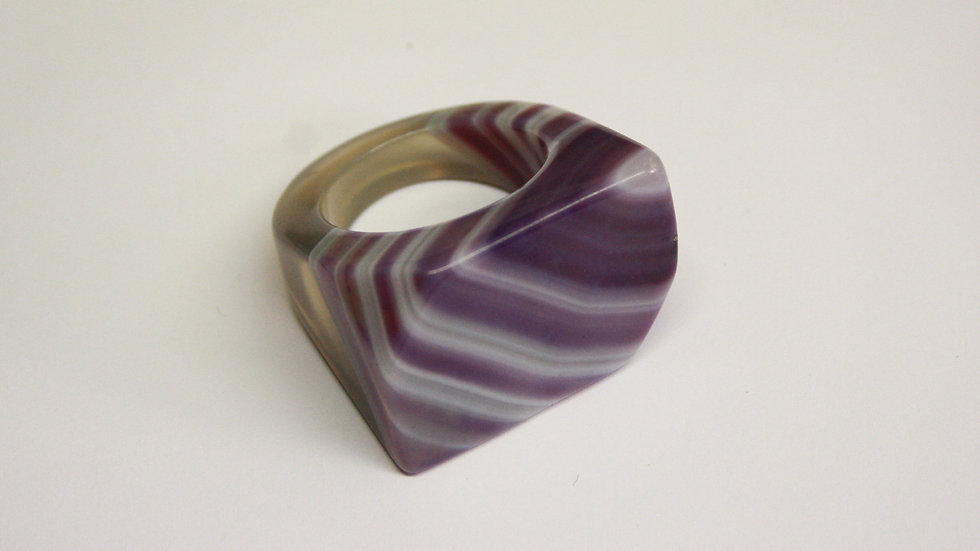 Agate Ring, Purple - Size U
