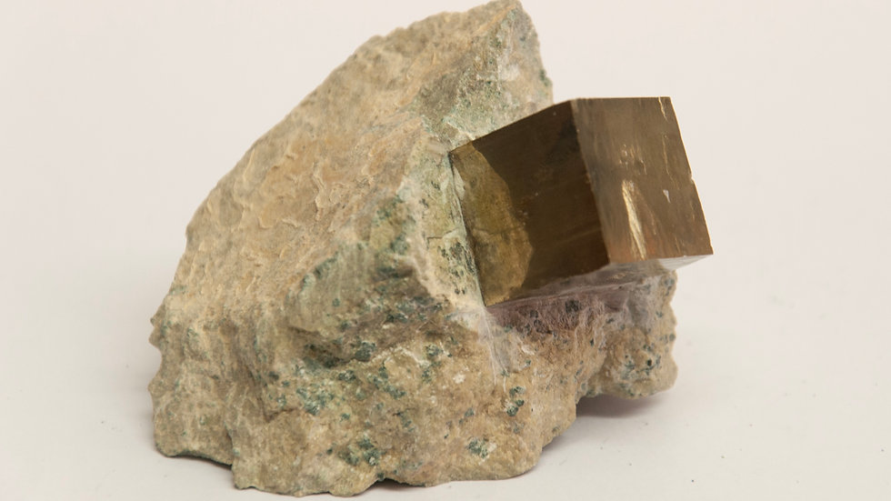 Pyrite Cube in Matrix