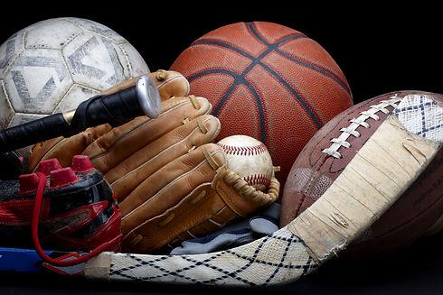 Close up shot of old soccer ball, basket