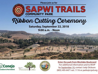 Sapwi Trails Community Park Ribbon Cutting Ceremony in Thousand Oaks on September 22nd