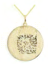 Toscano Collection Concave Disc Pendant 18K