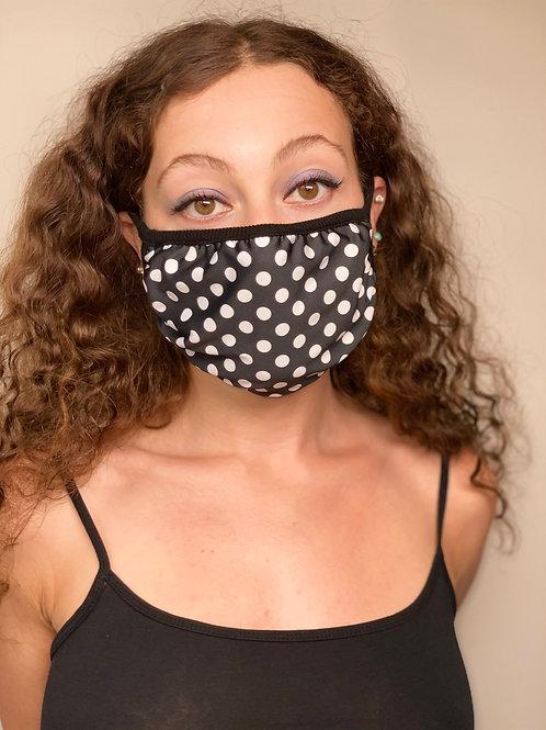 Black and White Polka Dot Fashion Mask