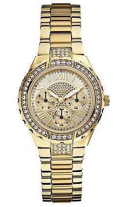 GOLD-TONE SPARKLING WATCH