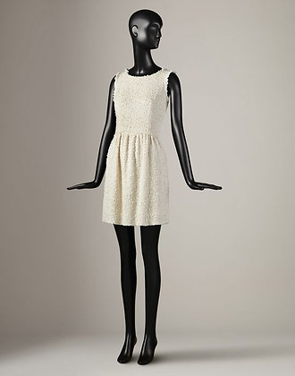 CROCHET TRIMMED MINI DRESS