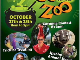 """Boo at the Zoo"" Event at America's Teaching Zoo in Moorpark, October 27-28, 2018"