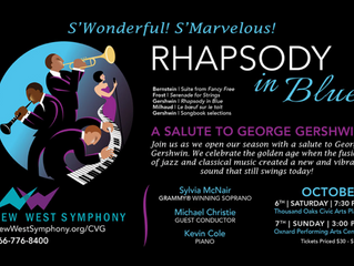 "New West Symphony Opens 24th Season with Salute to Gershwin, ""Rhapsody in Blue"" October 6"