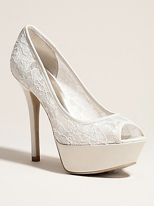 NANCILLE PEEP-TOE PUMPS