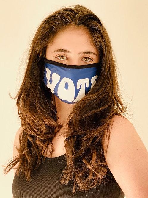 """Navy Blue """"Vote"""" Fashion Mask"""
