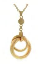 Toscano Collection Satin Circle Pendant 14K