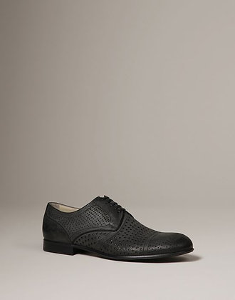 PERFORATED WASHED SUEDE MILANO DERBY (MENS)