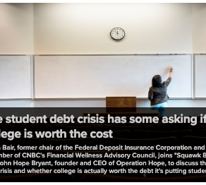 The student debt crisis has some asking if college is worth the cost