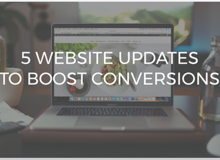 5 Website Updates to Boost Conversions