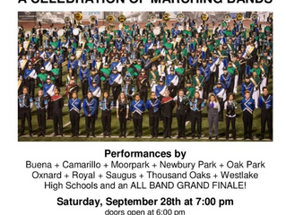 12th Annual Sounds of Conejo Marching Band Celebration at Thousand Oaks High School on Saturday, Sep
