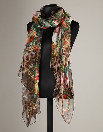 PRINTED COTTON STOLE (WOMANS)