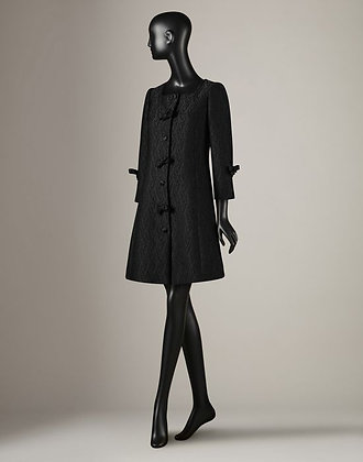BRICADE COAT WITH BOWS  (WOMANS)