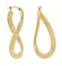 Toscano Collection Textured Satin Wavy Hoop