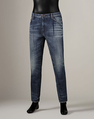 DENIM FIT OVER WITH PLEATS (MENS)