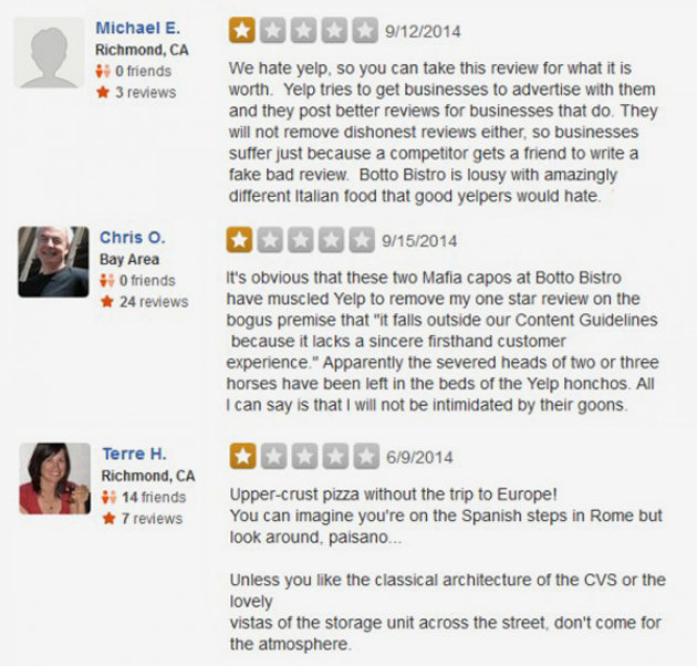 The restaurant owner who asked for 1-star Yelp reviews | Seo