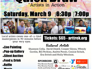 """2nd Annual Quick Draw """"Artists in Action"""" at Art Trek Newbury Park on Saturday, March 9th"""