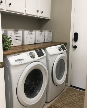 Laundry Room Make Over - Creating More Space