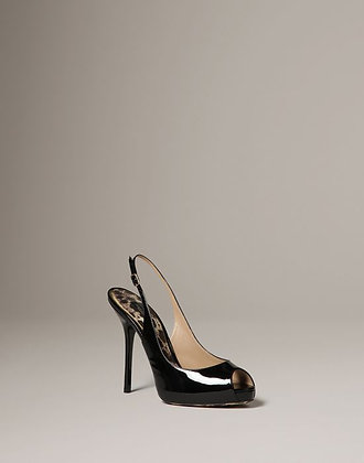PATENT LEATHER SLING BACK CRYSTINE (WOMANS)