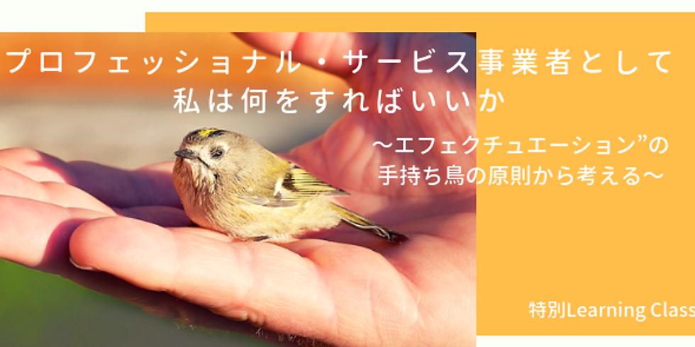 """<特別クラス>プロフェッショナル・サービス事業者として、私は何をすればいいか~エフェクチュエーション""""の手持ち鳥の原則から考える~"""